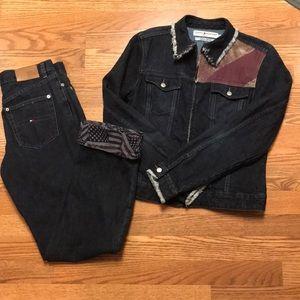 Tommy Hilfiger American Flag denim jacket&pants.